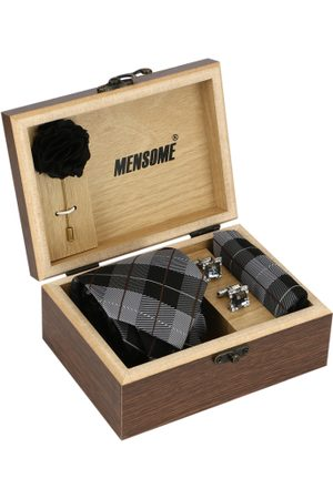 MENSOME Men Black & Grey Accessory Gift Set