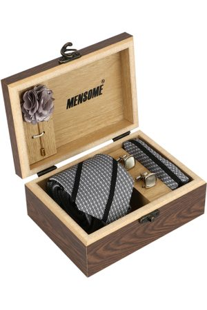 MENSOME Men Black & White Accessory Gift Set
