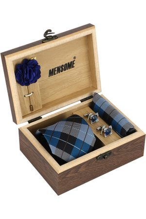 MENSOME Men Blue & Black Accessory Gift Set