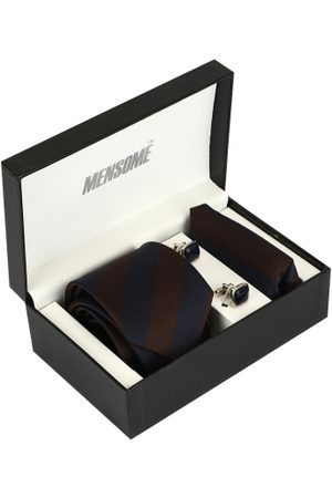 MENSOME Men Brown & Navy Blue Accessory Gift Set