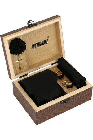 MENSOME Men Black & Gold-Toned Accessory Gift Set