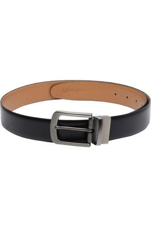 amicraft Men Black & Tan Brown Reversible Solid Belt