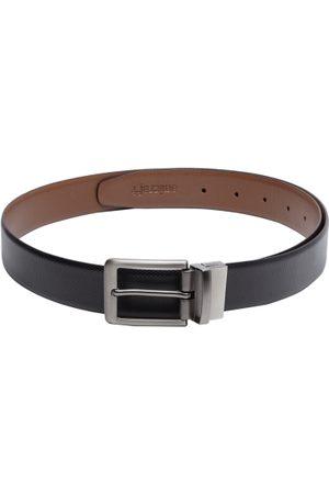 amicraft Men Black & Brown Textured Leather Reversible Belt