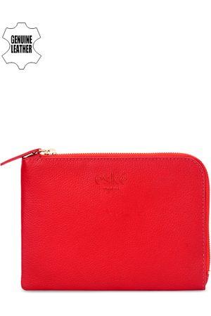 Eske Men Red Genuine Leather Travel Pouch