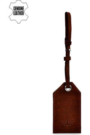 Eske Men Brown Solid Luggage Tag