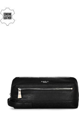 Eske Men Black Leather Travel Leather Pouch