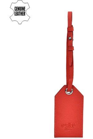 Eske Men Red Solid Luggage Tag