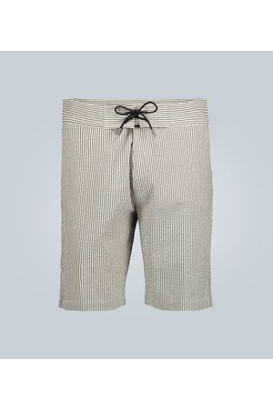 Sease Straght-fit linen shorts