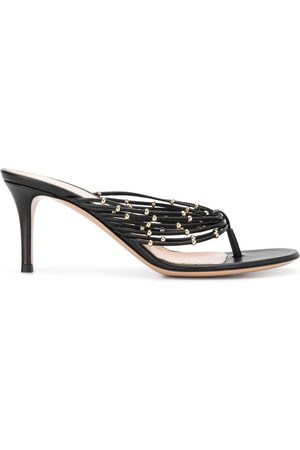 Gianvito Rossi Beaded detail stiletto heel sandals