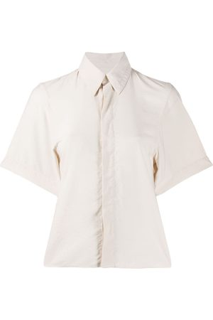 Ami Concealed front fastening shirt