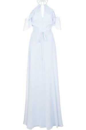 Marchesa Notte Cold shoulder bridesmaid gown