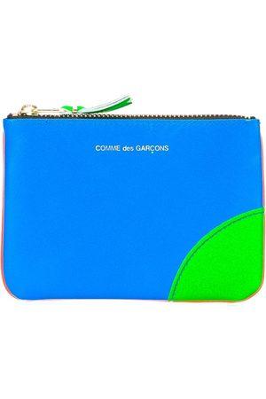Comme des Garçons Colour block zipper purse
