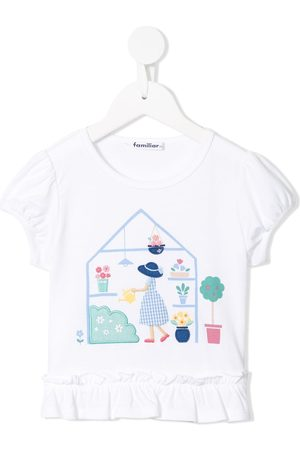 Familiar Greenhouse print T-shirt