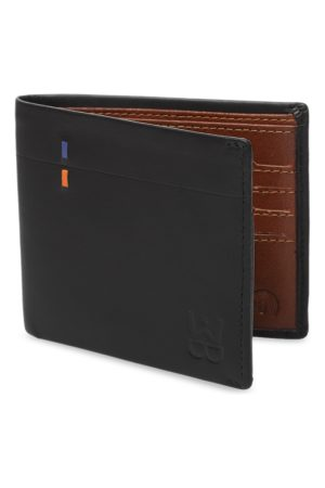 WELBAWT Men Black Solid Leather Two Fold Wallet