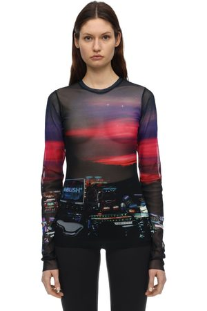 AMBUSH Printed Sheer Tech Top