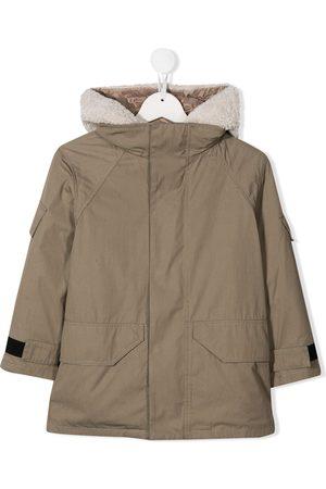 YVES SALOMON Hooded shearling lined jacket
