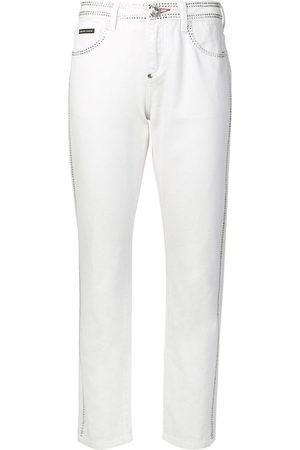 Philipp Plein Crystal embellished slim-fit jeans