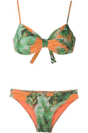 AMIR SLAMA Mata Atlântica print bikini set