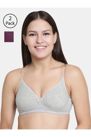 Florett Pack Of 2 Solid Non-Wired Lightly Padded T-shirt Bra F20560