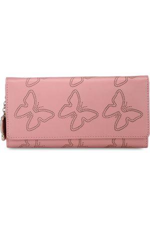 Butterflies Women Pink Cut-Work Wallet