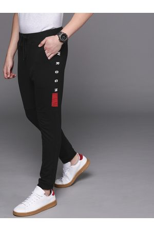 WROGN Men Black Solid Slim Fit Joggers