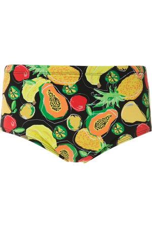 AMIR SLAMA Frutas print trunks