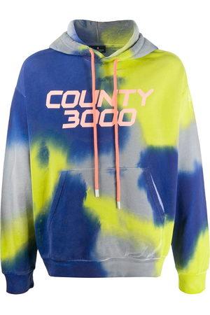 MARCELO BURLON County 3000 tie-dye hooded sweatshirt