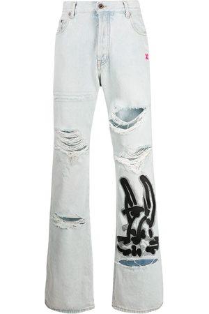 OFF-WHITE Men Jeans - EV LOW FIT JEANS BLEACH BLACK
