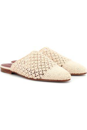 Loro Piana Balgha crochet mules