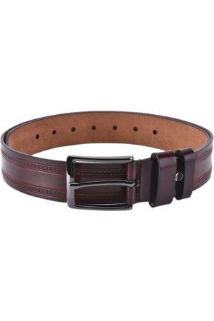 BuckleUp Men Brown Textured Belt