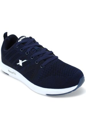 Sparx Men Navy Blue & White Running Shoes