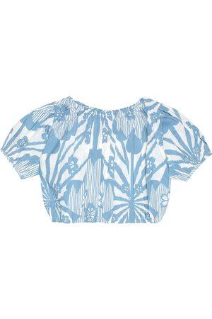 Caramel Queen's Park cropped cotton blouse