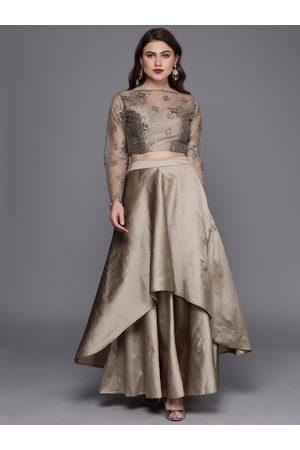 Bollywood Vogue Grey Made To Measure Lehenga Choli