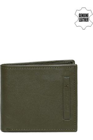 Fastrack Men Olive Green Leather Wallet