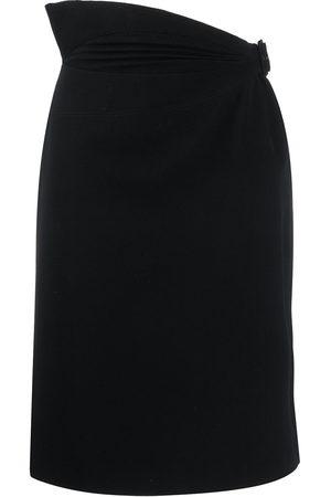 Alaïa Asymmetric waist short skirt