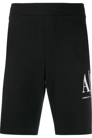 Armani Men Sports Shorts - Logo-embroidered track shorts
