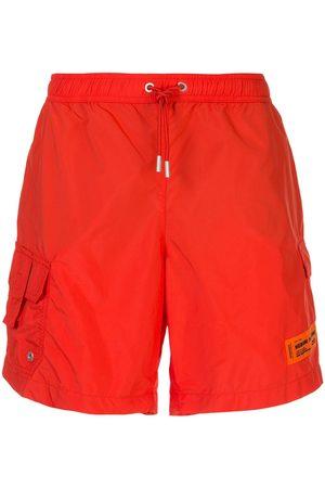 Heron Preston Logo patch swim shorts