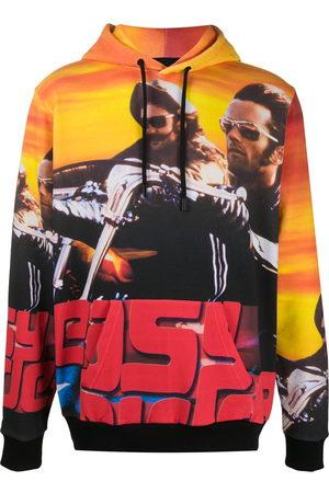 MARCELO BURLON Easy Rider-print hooded sweatshirt