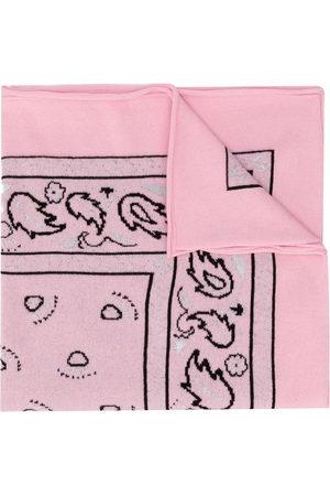 Barrie Women Scarves - Paisley print bandana scarf