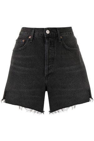 AGOLDE Women Shorts - Frayed edge shorts