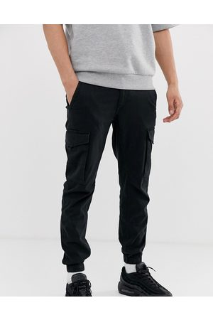 Jack & Jones Intelligence cuffed cargo trouser in