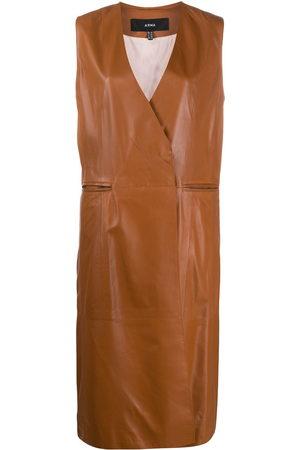 arma leder Women Waistcoats - Double breasted tailored waistcoat