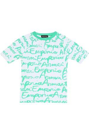 Emporio Armani Graffiti logo rash guard