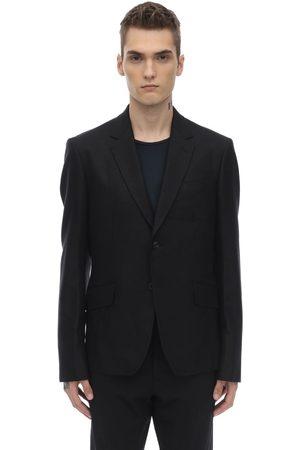 JUNYA WATANABE Men Blazers - Silk & Wool Jacket W/ Cotton Canvas Back