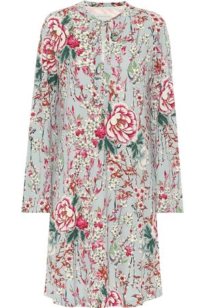 Etro Floral crêpe de chine dress