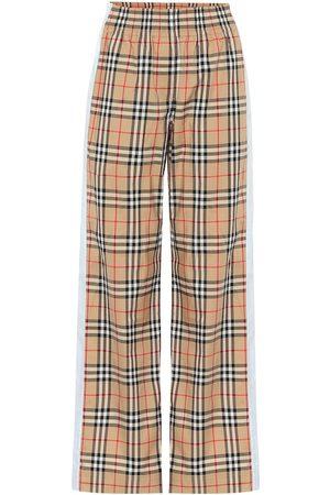 Burberry Vintage Check high-rise wide-leg pants