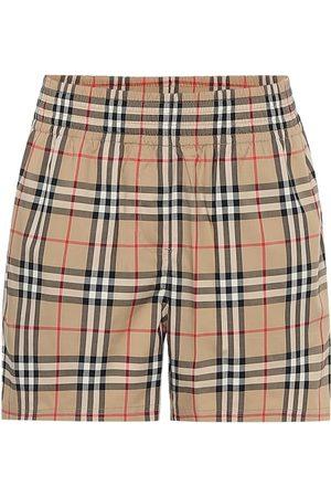 Burberry Women Shorts - High-rise stretch-cotton shorts