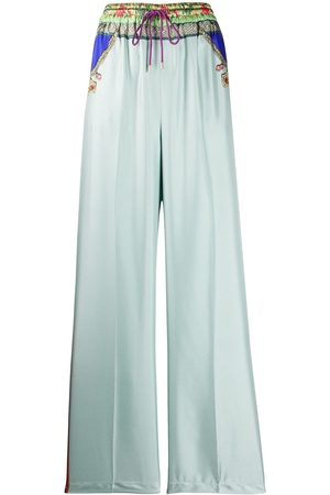 Etro Printed satin-twill trousers