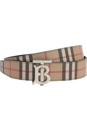 Burberry 35mm Tb Reversible Check & Leather Belt