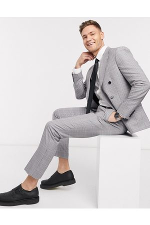 Moss Bros Moss London eco suit trousers in and pink check